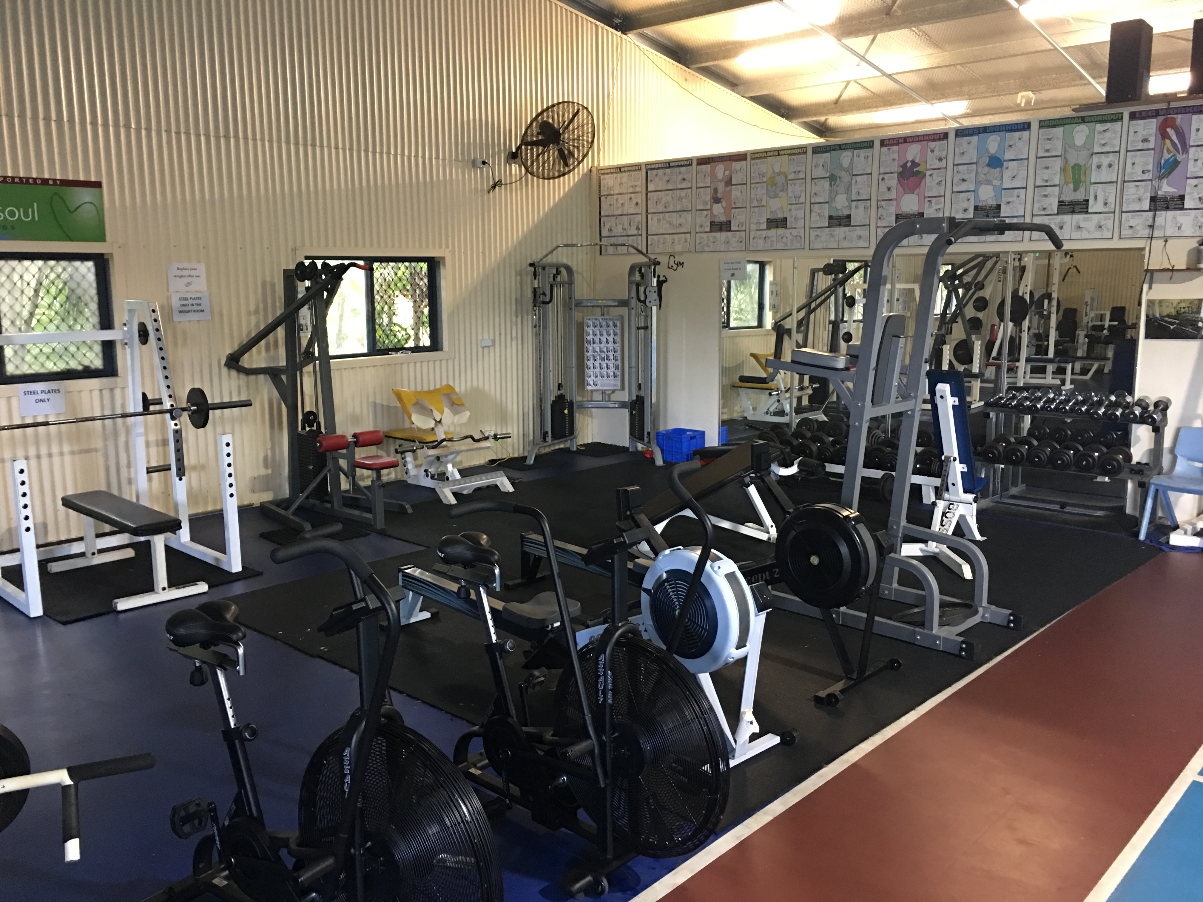 School Gym - Resistance Training Area 1
